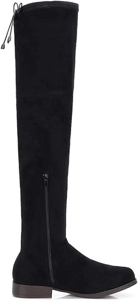 Suede Over The Knee Boots Flat