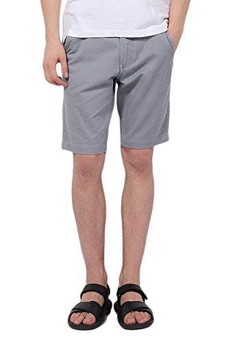 Pau1Hami1ton PH-01 Men's Chino Casual Shorts Slim Fit(32 Grey) by Pau1Hami1ton