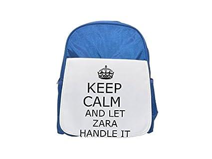 Handit Zara Keep Calm - Mochila Infantil con Estampado de Color Azul, Bonita Mochila,