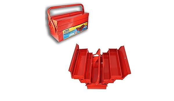 Caja Porta Herramientas con 5 compartimentos cajonera de hierro ...