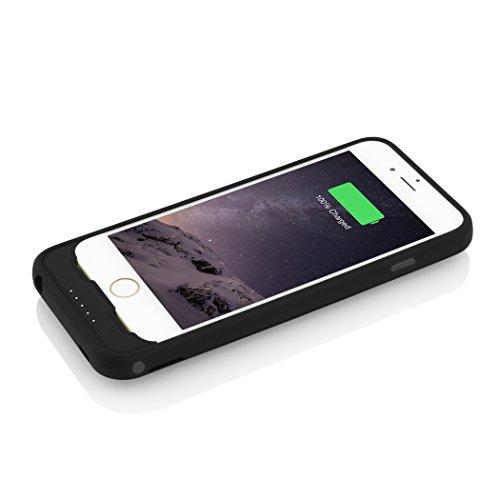 Incipio offGRID Express für Apple iPhone 6 / 6S -  schlanke Schutzhülle mit integriertem Akku (3.000mAh) - schwarz (IPH-1211)