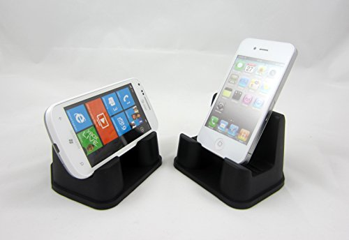 PhoneProp - Universal Fit Soft Flexible SmartPhone Stand - Durable FDA High Grade Silicone - Color Black