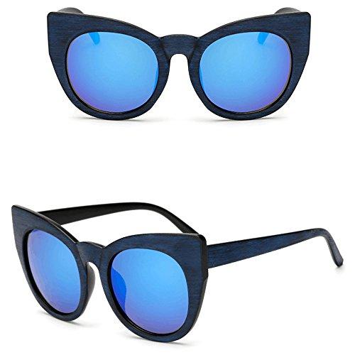 Awerise Cateye Faux Wooden Sunglasses, Faux Wood Sunglasses, UV 400, Sunglasses for Women (Mirroed - Sunglasses Mirroed