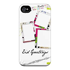Flexible Tpu Back Case Cover For Iphone 4/4s - Eid Greetings