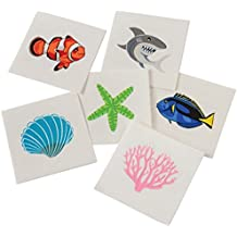 Assorted Coral Reef Ocean Life Temporary Tattoos (144)