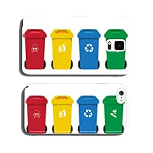 many color wheelie bins set with waste icon cell phone cover case iPhone6 Plus