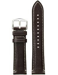 S221245 22mm Leather Calfskin Dark Brown Watch Strap