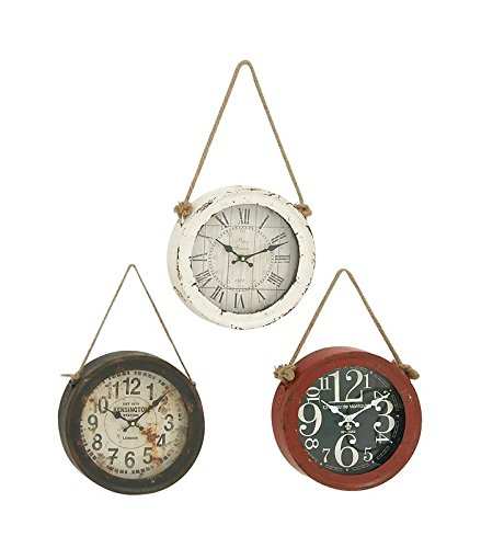- Woodland Imports 52541 Metal Wall Clock Set of 3