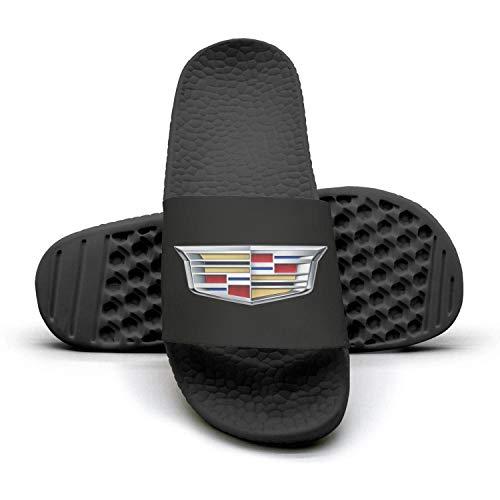 Printed Non-slip slipper slides flip flop sandals Cadillac-logo-symbol-emblem-summer Soft for mens (Cadillac Shoes For Men)