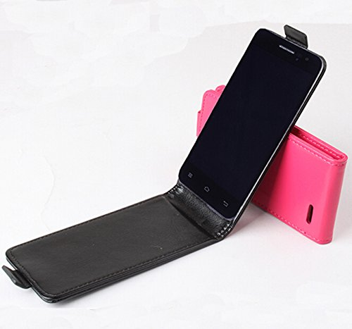 Prevoa ® ? Flip PU Funda Cover Case Para Jiayu F1 4.0' Smartphone - Negro