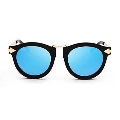 Anti Ejercicio Color Luz 2 HOME Metal Personalidad Ultralight 4 Decorativo Gafas Sol Avant Garde Vintage Espejo De Polarizada Playa QZ Reflexivo UV400 TqH8w4x