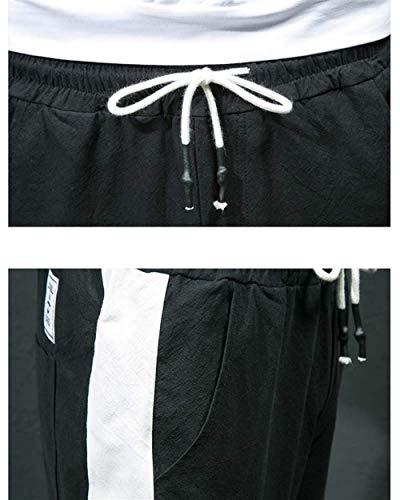 Casual Long Léger Confortable Noir Sport Été Plage Hommes Pants Linen Printemps Couleur Unie Battercake IBZgt