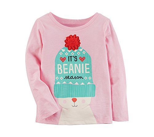 Price comparison product image Carter's Girls Long Sleeve Beanie Season Tee 24 Month