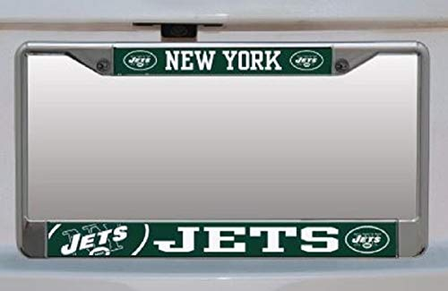 Stockdale NFL New York Jets Small Over Large Mega License Plate - License Plate Over