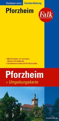 Falk Stadtplan Extra Standardfaltung Pforzheim