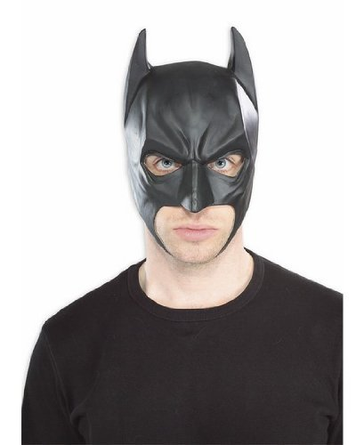 Batman The Dark Knight Rises Three-Fourth Batman Mask, Black, One Size