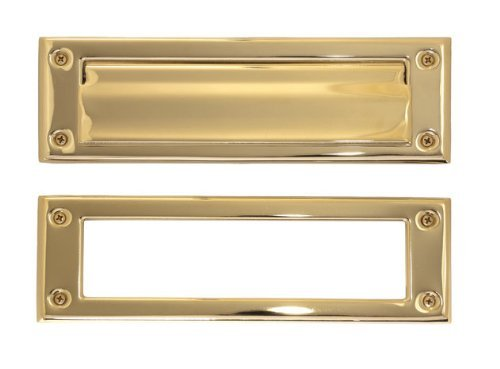 Brass Accents Brass 3 x 10-inch Mail Slot Lifetime Polished ()