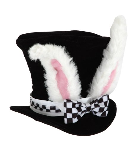 elope Kids White Rabbit Topper Plush Hat -