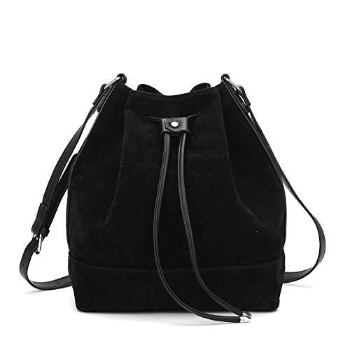 Black Bag Shoulder Suede - Drawstring Bucket Bag for Women Large Crossbody Purse and Shoulder Bag Suede Tote Handbags