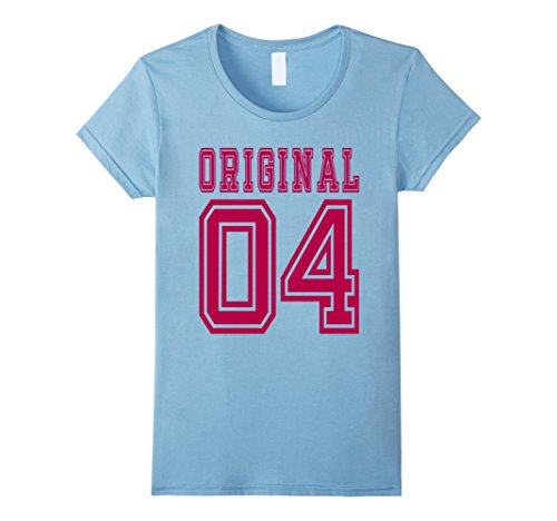 Women's 2004 T-shirt 13th Birthday Gift Age 13 Year Old Girl B-day C Medium Baby Blue