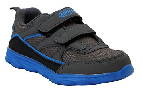 Airtech ,  Mädchen Unisex Kinder Baby, Jungen Jungen Baby Mädchen Kurzschaft Stiefel Dunkelgrau/Blau
