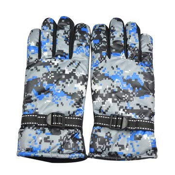 Motorcycle Motorcycle Gloves - Full Finger Cycling Motorcycle Gloves Mountain Bike Camouflage Navy Men Free Size For - 1 X Pair Full Finger Gloves