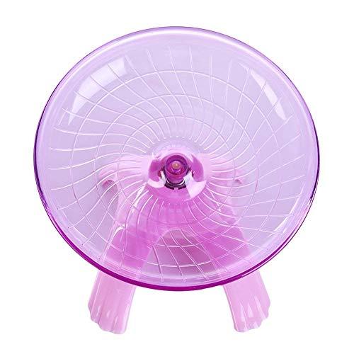 lizhi Flying Saucer Exercise Wheel for Small Pets Hamster Jogging Running Silent Spinner Hamster - Hamster Pink