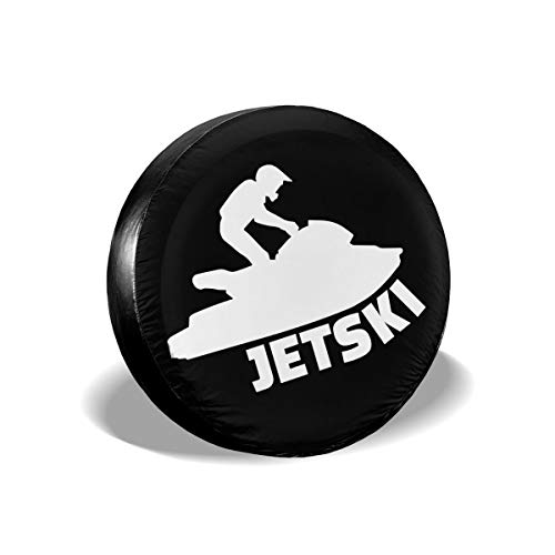 CLTT9KF Jet Ski Tire Cover for Jeep Truck SUV and Many Vehicles (Jets Tire Cover)