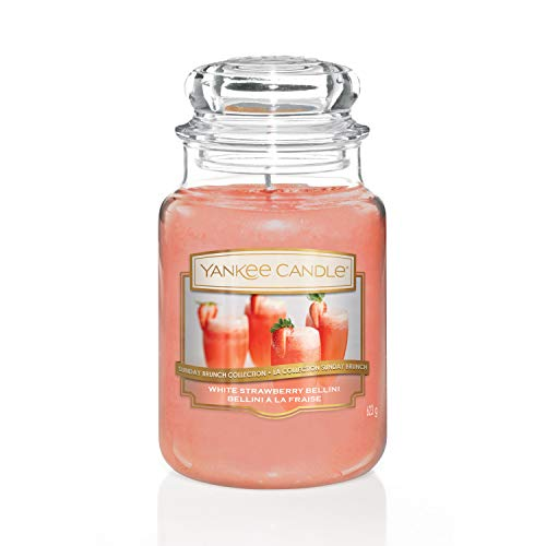 Sunday Brunch Collection by Yankee Candle Large Jar Candle, White Strawberry Bellini