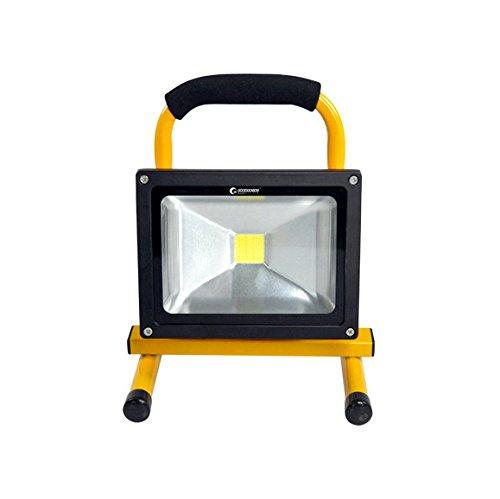 GOODGOODS LED 充電式 投光器 20W 2300LM ポータブル 作業灯 防水 LEDライト バッテリー搭載 夜間照明 アウトドア 防災グッズ 【一年保証】YC20黄色 B01JCMSLX4 10346