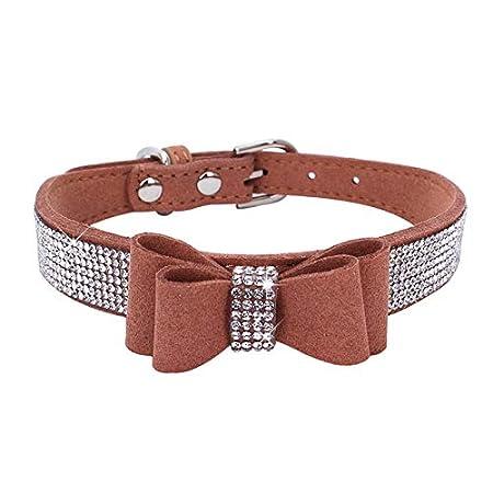 Lifemaison Collana per Animale Domestico con Cristallo Diamante Collare del Cane e Gatto Regolabile