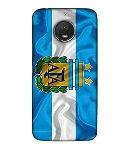 ColorKing Football Argentina 05 Multicolor shell case cover for Motorola Moto E4 Plus