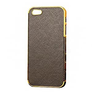 DUR Cross Grain Pattern Leather Hard Case for iPhone5/5S(Assorted Color) , Red