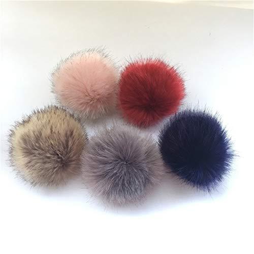 Elvy 13-15cm False Hairball Hat Ball Pom Pom Handmade DIY Artificial Wool  Ball Wholesale Cap Accessories Pompom with Buckle  Amazon.in  Clothing   ... 82957da76239