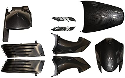 Yana Shiki BKK310CF Carbon ABS Accent Kit for Kawasaki ZX-14R 9 Piece