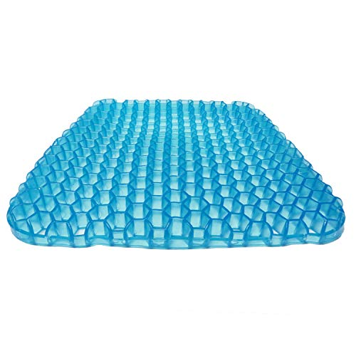 SESEAT Gel Seat Cushion Soft Breathable with Non Slip Cover for Chair Office Car Wheelchair Gel Cushion Seat Pad