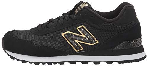 New Balance Women's 515 V1 Sneaker, Black/Gold Metallic, 5.5 W US