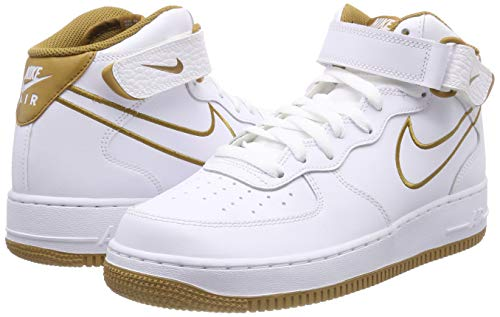 de Lthr Zapatillas para Hombre Bronze Deporte NIKE Mid 101 Muted Multicolor '07 Air 1 White Force a0w0Af