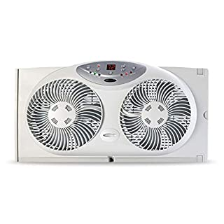 Bionaire Window Fan with Twin 8.5-Inch Reversible Airflow Blades and Remote Control, White (B000065DKJ) | Amazon price tracker / tracking, Amazon price history charts, Amazon price watches, Amazon price drop alerts