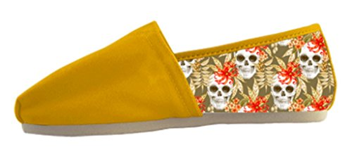 Womens Summer Flat Canvas Shoes with Day of Dead Theme 1 nTf5usZ