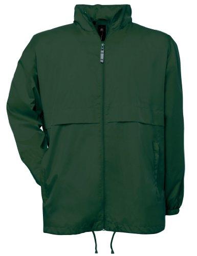 B&C Collection JU801 Mens Air Lightweight Jacket - Bottle Green - Medium