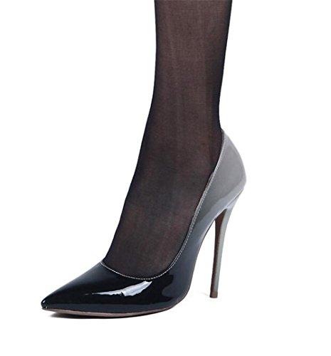 xie discothèque à avec Chaussures de Pointu Cuir la Chaussures Femme Hauts Talons Superficielle Peinture de Bouche qfq4rw8