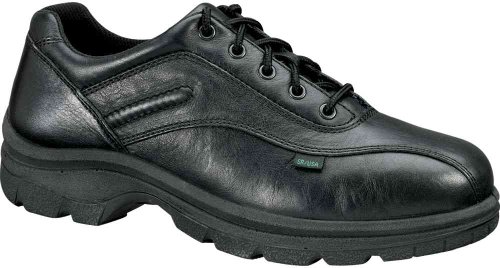 Thorogood Mens Black Steel Toe, EH, Casual Oxford Black