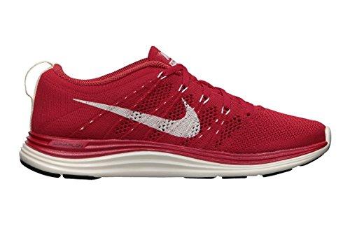 Nike Flyknit Lunar1 + Kvinners Joggesko, Størrelse 11,5, Universitet Rød / Seil