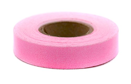 Pink Tape Masking (1/2 Fluorescent Pink, Color-Code Writeable Labeling Tape | Removable Adhesive, 0.5 x 500 in. Roll)