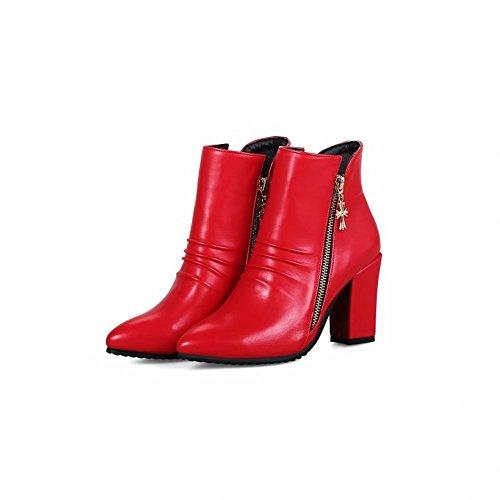 Elegante Rosso Boots Stivaletti Misssasa Donna BwqfxH