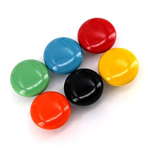 Jacana Boutique Baby Kids Children room Cabinet drawer Pulls Knobs Handle Ceramic Dia 32mm, Red White Black Green Orange Yellow Blue