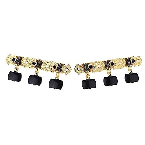 Andoer Alice AOS-020B3P 1 Pair Gold-Plated 3 Machine Head Classical Guitar String Tuning Keys Pegs