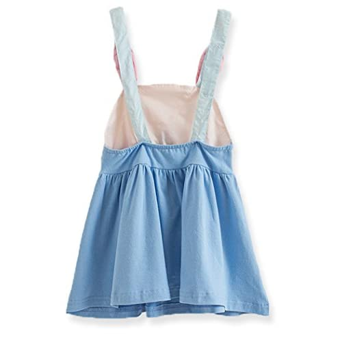 Baby Girl Cute Rabbit Harness Dress Sleeveless Mini Dress Age 1-6 Year