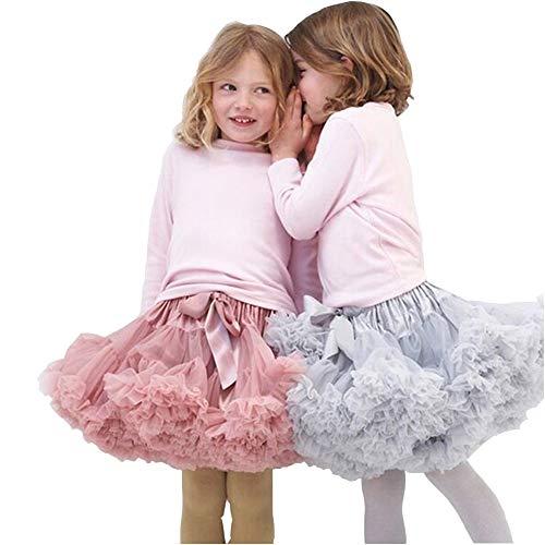 Baby Girls Tulle Pleated Tutu Skirt Princess Fluffy Soft Ballet Birthday Party Dance Pettiskirt Christmas Halloween Costume